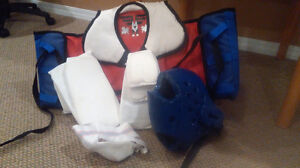 Tae Kwon Do pads and helmet