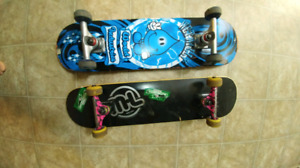 Two Complete Skateboards