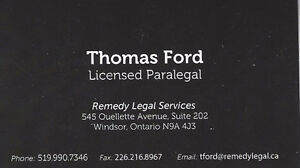 Paralegal, Small Claims , Employment Law , Human Rights, Tickets
