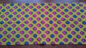 Purple and Pink Strawberry Print Fabric