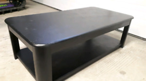 SOLID black coffee table