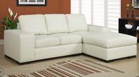Sofa sectionnel en cuir à 750$