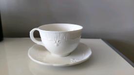 Pour La Maison Jeff Banks Cup & Saucer White Tea Cup