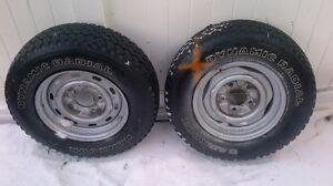 Hannok 215/R75R15 Winter Wheels each wheel