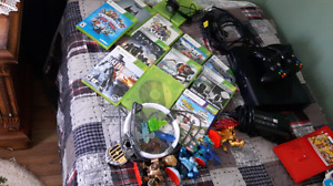 Xbox 360 and accessories.