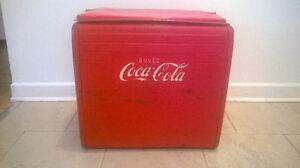 Coca Cola Vintage Cooler 1955 ST. THOMAS  (Glaciere 1955)