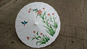 Paper parasols with pattern or white from $11.99 ea