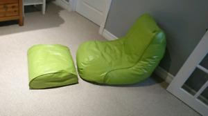 Green Bean Bag Chair With Foot Rest