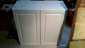 White cupboard with doors