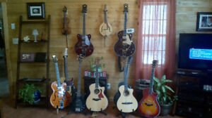 Various Taylor guitars for sale