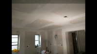 Installation drywall and taping