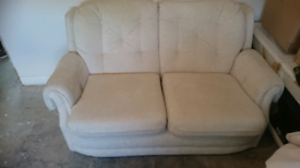 Lovely vintage looking 2 seater sofa and 1 seater chair