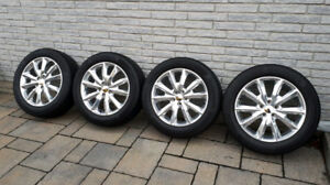 225/55r18 Continental pour Jeep Cherokee