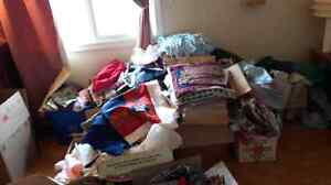 Assorted fabric sewing etc read ad