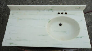 Vanity top with sink and faucet