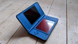 Nintendo DSI XL Blue great condition box case 3 games