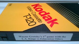 VHS tape - W. Gretsky's 1st game with L.A. Kings vs Oilers Kitchener / Waterloo Kitchener Area image 2