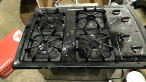 Gas Top and slide in oven