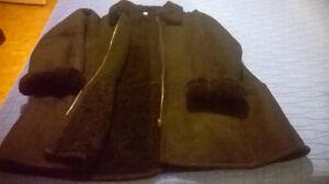 Black Leather Coat for Women