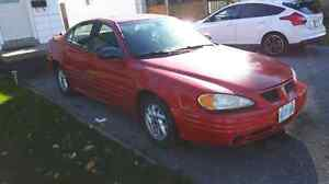 2002 Pontiac Grand Am SE 4D for sale  w/winter tires on rims !