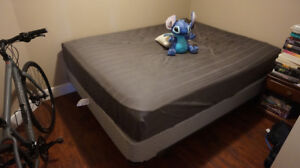 Queen Bed + Box Spring + Frame