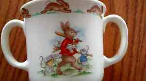 Bunnykins bowl and mug set