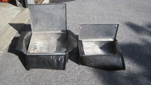 Snowmobile storage boxes