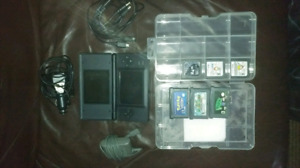 Black Nintendo DS Lite (2006) + Car/wall chargers + Games