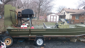 1996 Lowe Olympic 18' converted to airboat