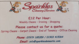 Sparkles Cleaning,Let us make your home Sparkle for Christmas,Fully Insured/References(Cleaner)