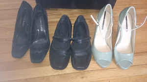 Great ladies shoes, size 8.5-9. $30 takes all three!
