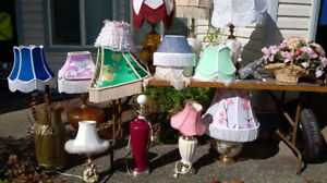 Victorian Lampshades new   different colors   Hand crafted
