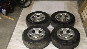 4 winter Blizzak DM-V1 Tires (P-245/70R17) on Dodge Rims Strathcona County Edmonton Area image 1