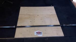 2 Olympic 45 lb bars