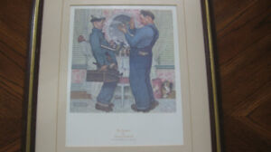 Norman Rockwell  - The Plumbers  The Saturday Evening Post