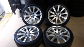 """Audi A4 18"""" TECHNIK ULTRA ALLOY WHEELS GENUINE and tyres A5 A6 S line"""