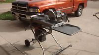 Ridgid wet tile saw with laser and folding stand.