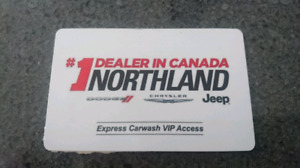Gift card for $650 of free car washes.