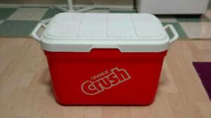 Orange Crush Plastic Cooler:  Gott Corp MODEL 1930-718