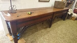Antique circa 1800's store counter amazing 10' long Hard to find London Ontario image 1