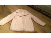 Girls pink coat age 10-11