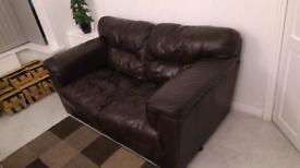 Leather sofa set 3+2 seater
