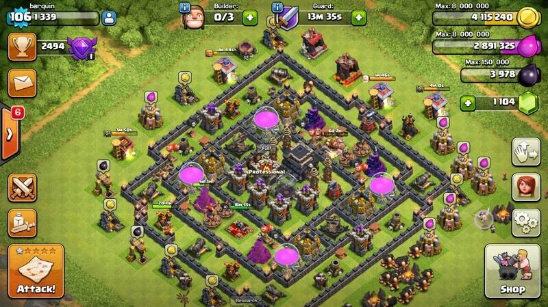 Clash of clans acc level 106