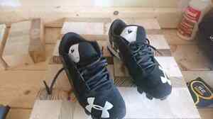 Kids cleats and basketball shoes size 6