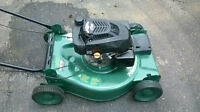 gas lawnmower with front drive