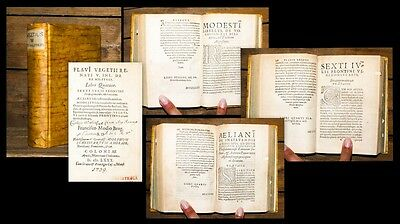 1580 Militaria Vegetius Renatus Aelianus Frontinus Modestus