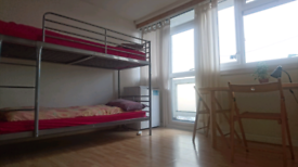Short term accommodation in shared rooms