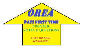 REAL ESTATE OREA EXAM NOTES AND QUESTIONS-----$20