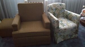 Brown arm chair with ottoman Kitchener / Waterloo Kitchener Area image 1