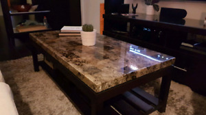 Dining Table & Matxhing Coffee Table